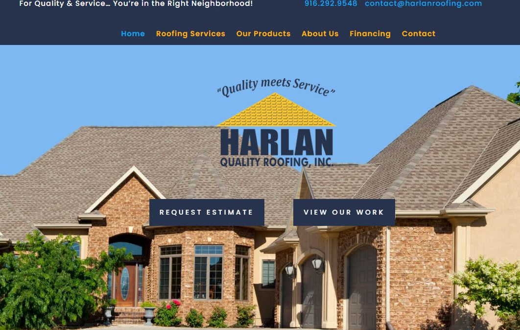 Harlan Quality Roofing - New Site & SEO